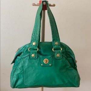 Marc Jacobs green satchel